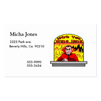 Wish You Were Here In Hell Double-Sided Standard Business Cards (Pack Of 100)