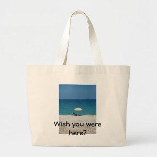 Wish you were here? jumbo tote bag