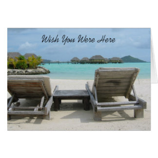 Wish You Were Here Note Card