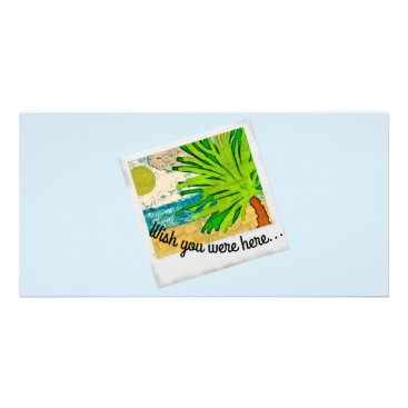 Beach Themed Wish you were here picture card