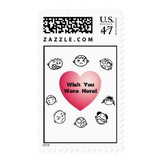 Wish You Were Here Postage Stamp