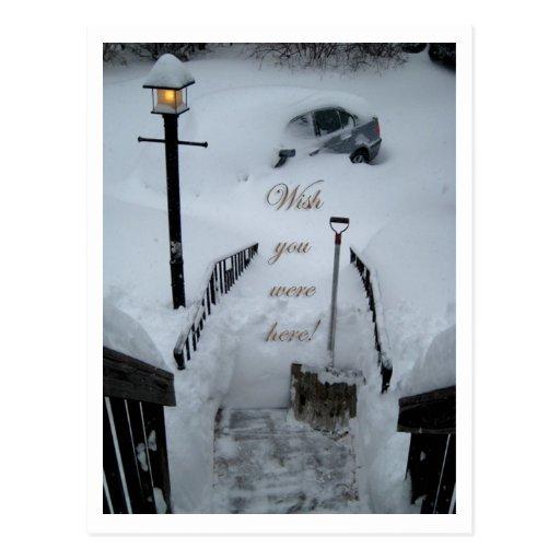 """Wish you were here"" Postcard"