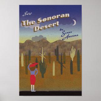 """Wish You Were Here"" Sonoran Desert Poster"