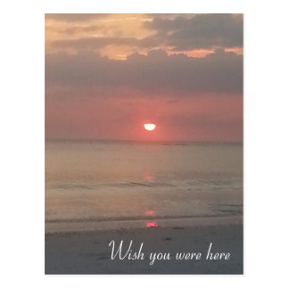 Wish you were here Sunset Postcard