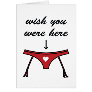 Wish You Were Here. Valentine's Card. Stationery Note Card