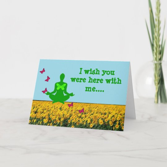 Wish you were here yoga greeting cards zazzle wish you were here yoga greeting cards m4hsunfo