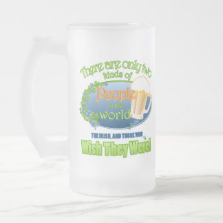 Wish You Were Irish (Ver 1) Frosted Glass Beer Mug
