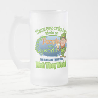 Wish You Were Irish (Ver 2) Frosted Glass Beer Mug