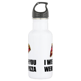 Wish You Were Pizza 18oz Water Bottle
