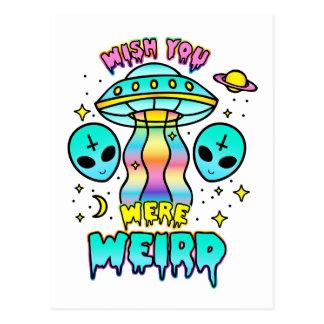 Wish You Were Weird - Aliens Postcard