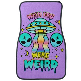 """Wish You Were Weird"" car floormat"
