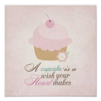 Wish your heart makes - Cupcake Poster