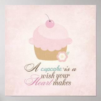 Wish your heart makes - Cupcake Print