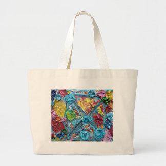 wisha washa original art from NET GIG series adela Large Tote Bag