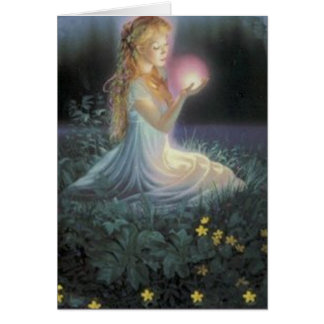 Wishes Amongst the Flowers Greeting Card