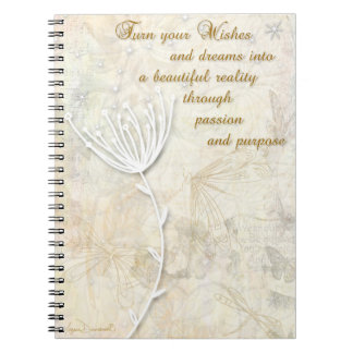 Wishes and Dreams Inspirational Notebook