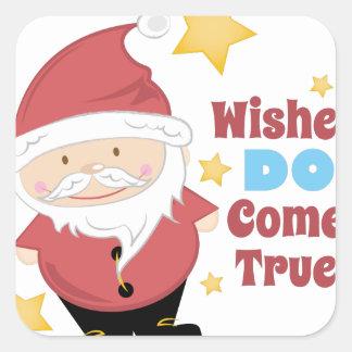 Wishes Come True Square Sticker