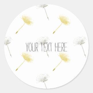 Wishes Dandelion Flowers Classic Round Sticker