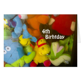 """WISHES FOR A FUN """"4th BIRTHDAY"""" Card"""