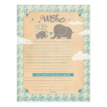 Wishes for Baby Boy - Elephant Advice Cards