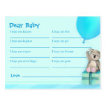 Wishes for baby boy - koala baby shower postcard