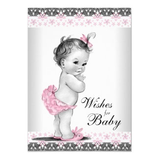 Wishes for Baby Card Baby Girl Shower