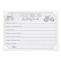 Wishes for Baby Card, boy baby shower Card