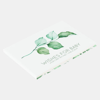 Wishes for Baby | Elegant Foliage Baby Shower Guest Book