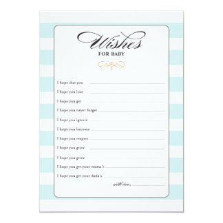 Wishes for Baby Game Card - Blue