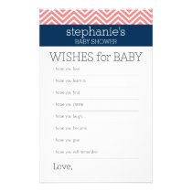 Wishes for Baby Shower Game Collection Flyer