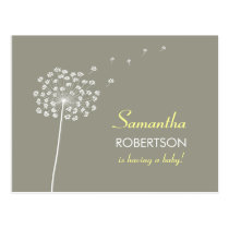 Wishes for Baby Shower postcard invitation