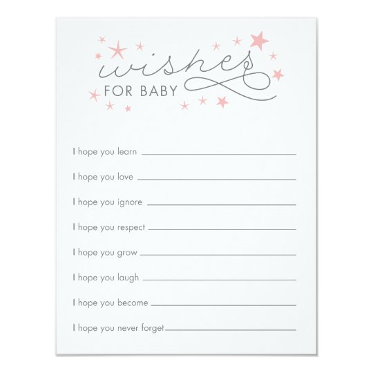 wishes for baby star baby shower game card zazzle