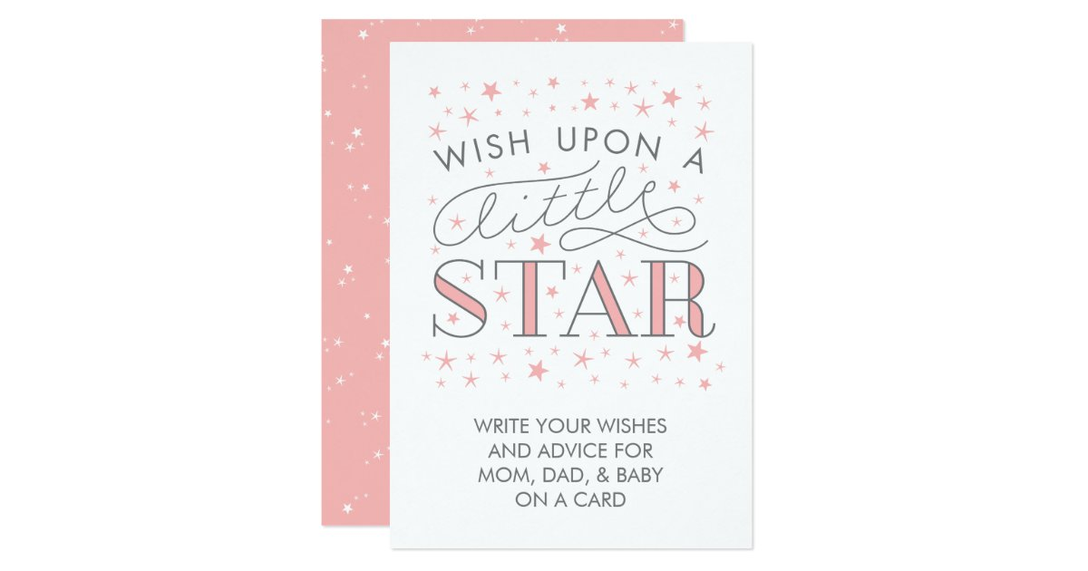 wishes for baby wish on a star baby shower sign card zazzle