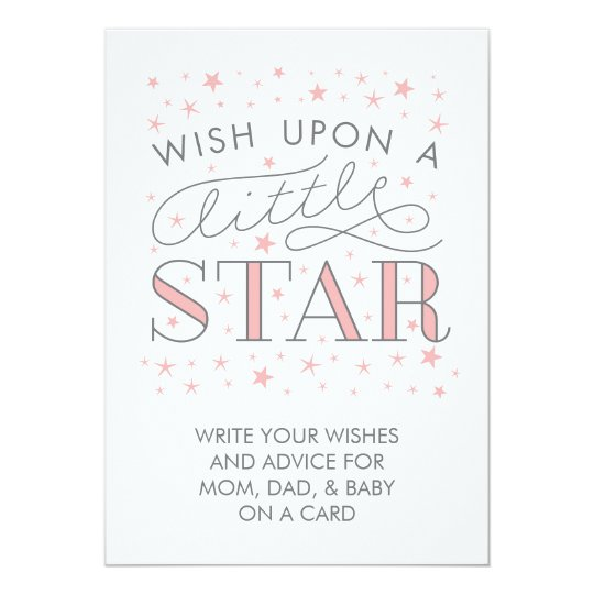 Wishes For Baby Wish On a Star Baby Shower Sign Invitation