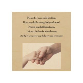 Wishes for my child wood wall art