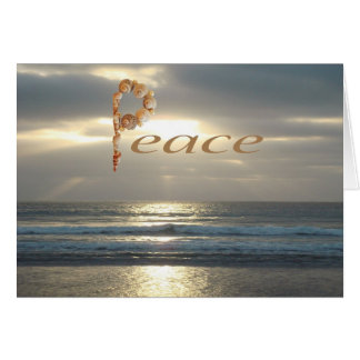 Wishes for Peace with Ocean Sunset Card