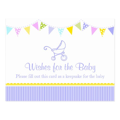 wishes for the baby baby shower postcard zazzle