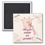 Wishes Granted 2 Inch Square Magnet