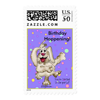 Wishes Happy Birthday Party Postage Stamps