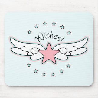 Wishes - Star with Wings Mouse Pad