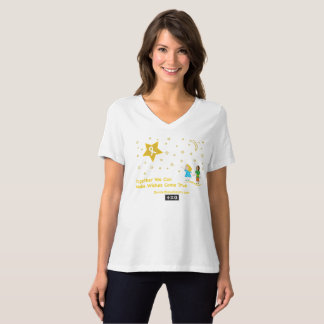 Wishes Wmn's Bella Relaxed Fit V-Neck T-Shirt