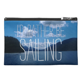 Wishful I'd Rather Be Sailing Sparkling Water Travel Accessory Bag