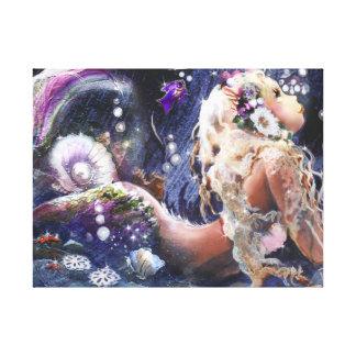 Wishful Mermaid Wrapped Canvas