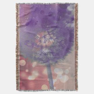 Wishful Thinking, Dandelion Puff throw blanket