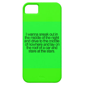 WISHFUL THINKING SNEAK OUT MIDDLE IGHT DRIVE NOWHE iPhone 5 COVERS