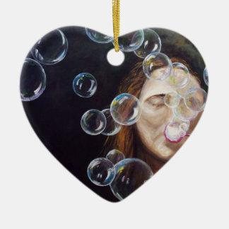Wishing Bubbles Ceramic Ornament