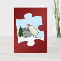 Wishing Ewe Piece Holiday Card
