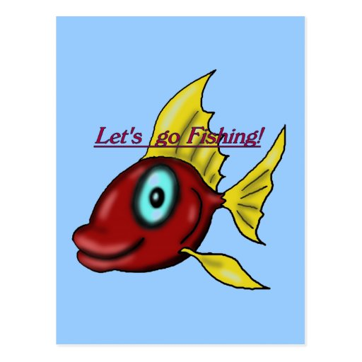 Wishing for Fishing Postcard