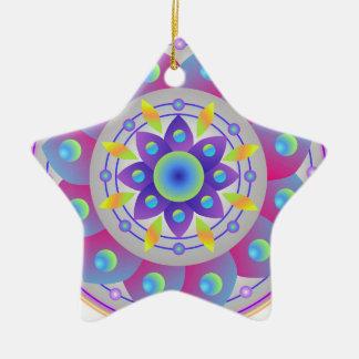 Wishing for Spring...Mandala Ceramic Ornament