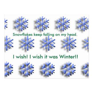 wishing for winter postcard